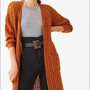 Long Knit Cardigan Duster